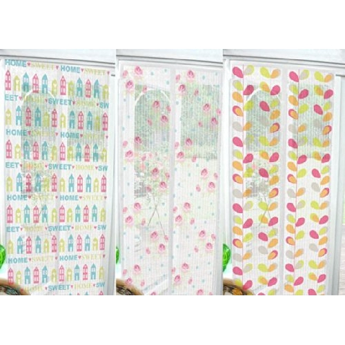 Rose Curtain Magnetic Insect Door Screen