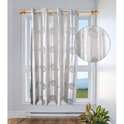 Non Brand Style Grey Silver Color Curtain 54inch Pair