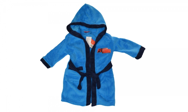 Disney Cars Blue 8 Years Bathrobe