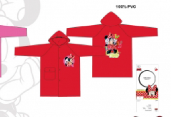 Disney Minnie Mouse Red 2 Years Raincoat