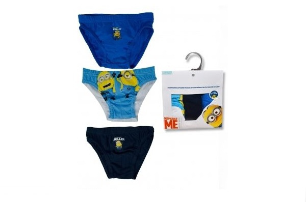 Despicable Me 3pk 'Minions' 6-8 Years Briefs