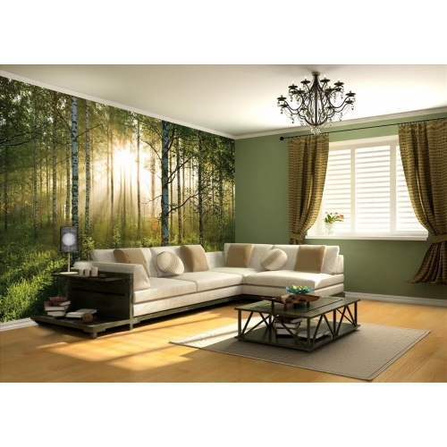 Summer Forest Wall Mural Paper Decoration