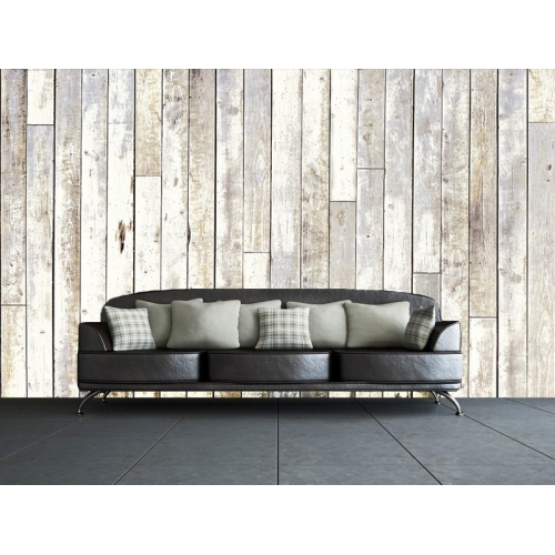 Vintage Boat House Style Wooden Look Wall Mural Paper Decoration