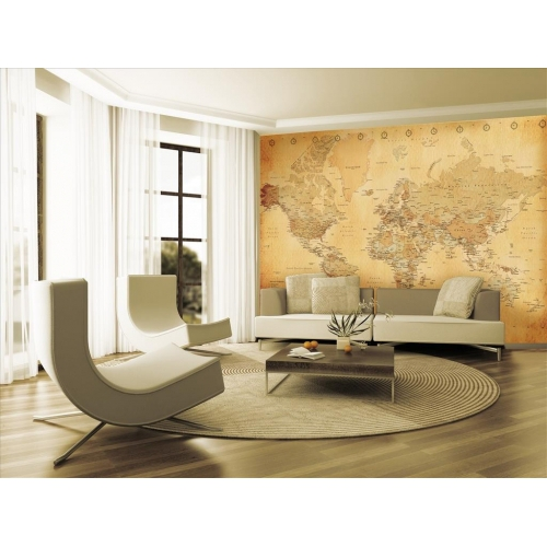 Vintage Map Wall Mural Paper Decoration
