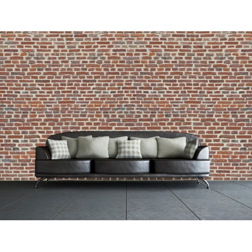 Red Brick Wall Mural Paper Decoration