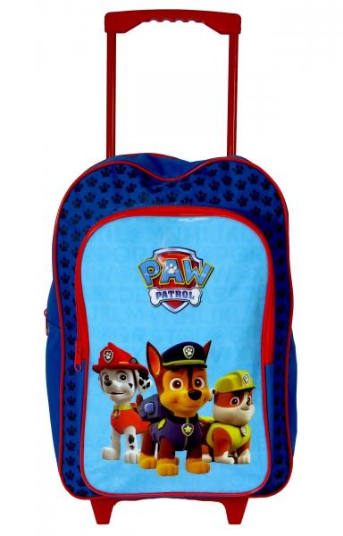 Paw Patrol 'Squad' Boys Trolley Backpack School Travel Roller Wheeled Bag