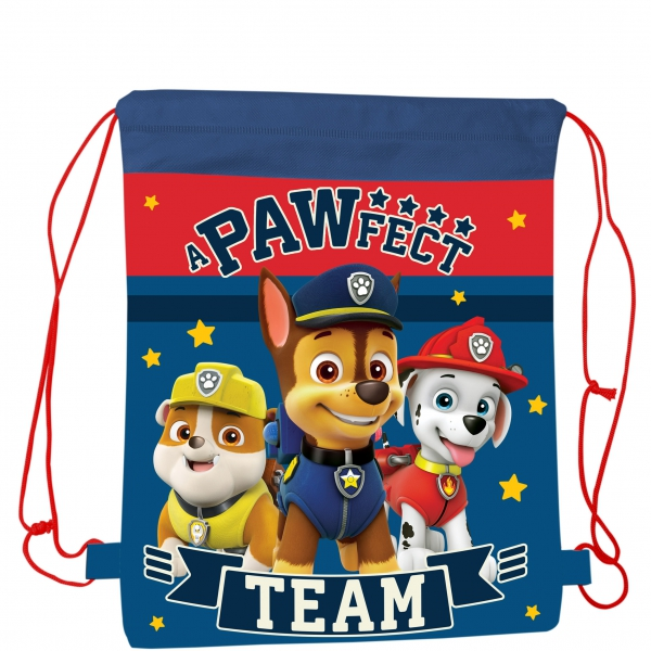 Paw Patrol Pull String Shoe Bag Drawstring School Pe Gym Trainer