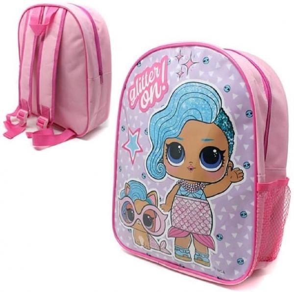 Lol Surprise Glitter on Plain School Bag Rucksack Backpack