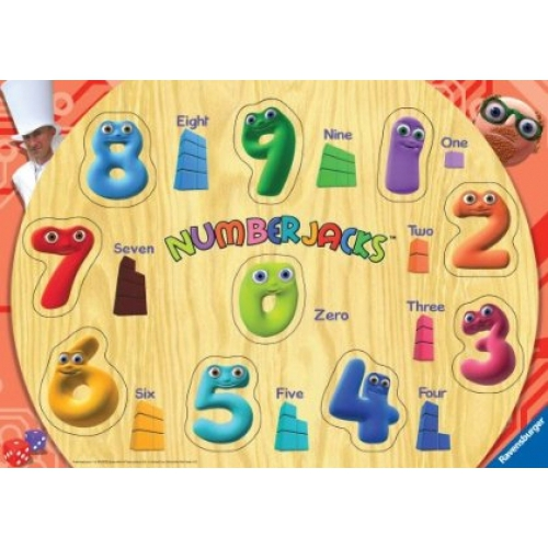 Numberjacks 10pc Playtray Puzzle