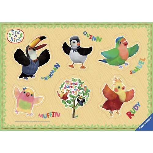 3rd and Bird 6 Piece Jigsaw Puzzle Game