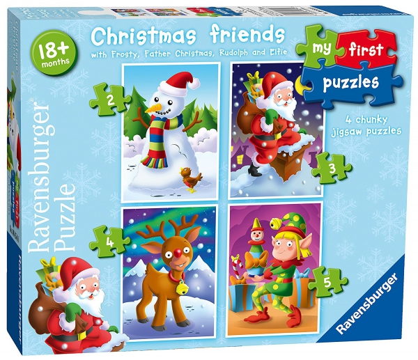 Christmas Friends My First 2 3 4 5 Piece Jigsaw Puzzle Game