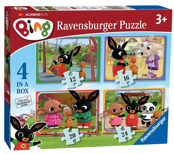 Bing Bunny 12 16 20 24 Piece 4 Jigsaw Puzzle Game
