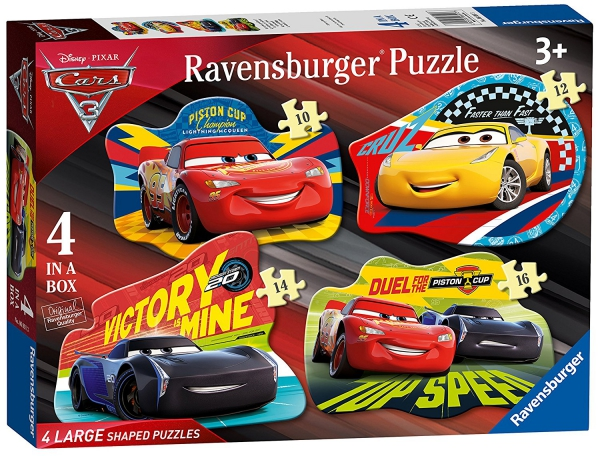 Disney Pixar Cars 3 'Shaped' 10 12 14 16 Pieces Puzzle