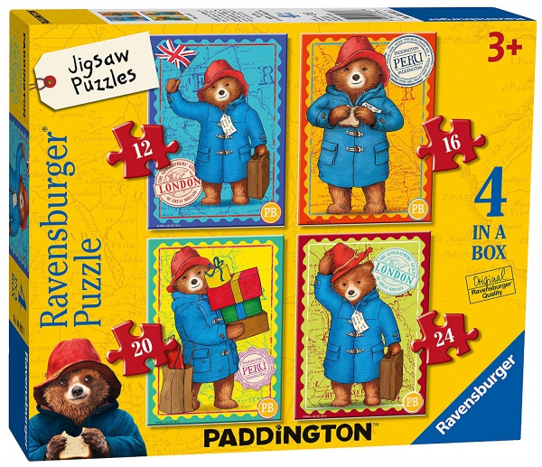 Paddington Bear 12 16 20 24 Piece 4 Jigsaw Puzzle Game