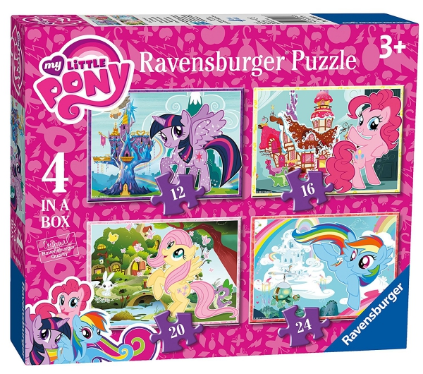 My Little Pony 12 16 20 24 Piece 4 Jigsaw Puzzle Game