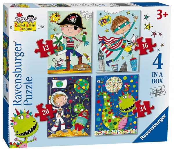 Rachel Ellen Boys 12 16 20 24 Piece 4 Jigsaw Puzzle Game