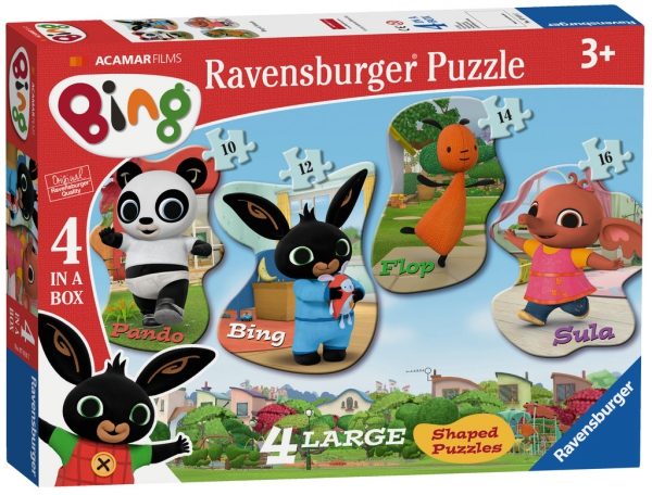 Bing Bunny 10 12 14 16 Piece 4 Jigsaw Puzzle Game