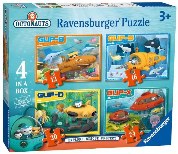 Octonauts 'Rescue' 12 16 20 24 Piece 4 Jigsaw Puzzle Game