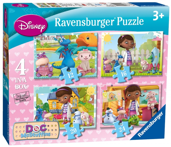 Disney Doc Mcstuffins 'Hugs' 12 16 20 24 Piece 4 Jigsaw Puzzle Game