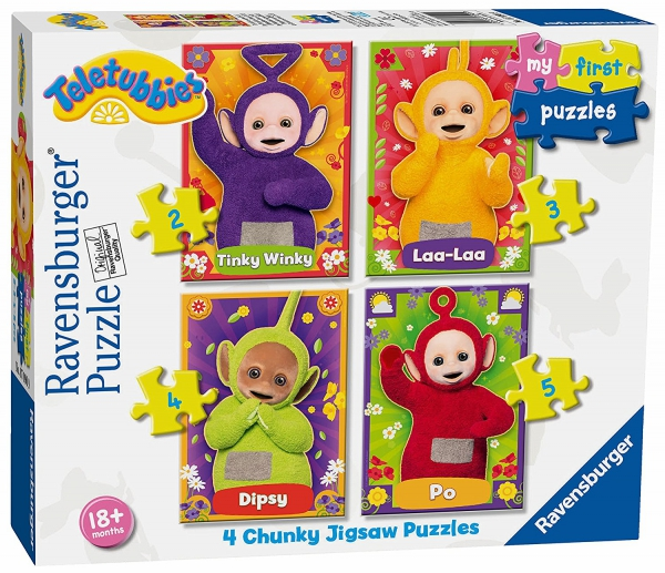 Teletubbies 2 3 4 5 Piece Jigsaw Puzzle Game