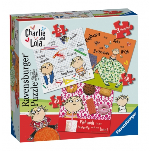 Charlie and Lola 25 36 49 Piece 3 Jigsaw Puzzle Game