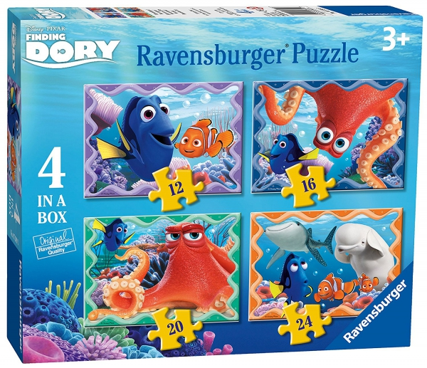 Disney Finding Dory 12 16 20 24 Piece 4 Jigsaw Puzzle Game
