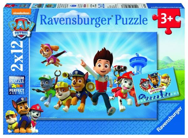 Paw Patrol 2x12 Piece Jigsaw Puzzle Game