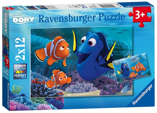 Disney Finding Dory 2x12 Piece Jigsaw Puzzle Game