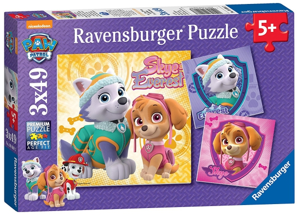 Paw Patrol 'Skye & Everest' 3x49 Piece Jigsaw Puzzle Game