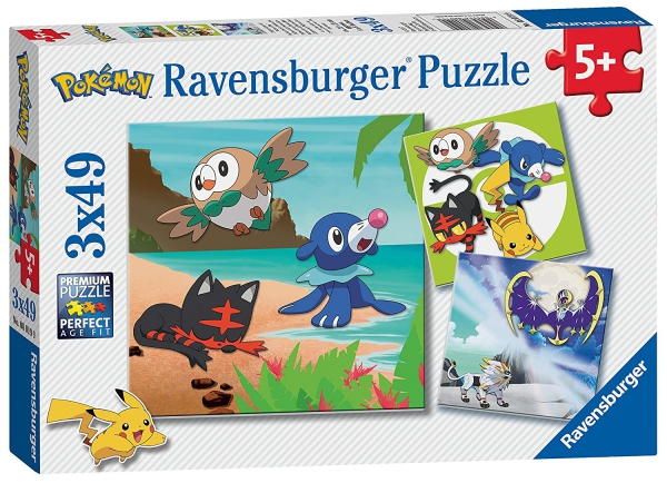 Pokemon 3x49 Piece Jigsaw Puzzle Game