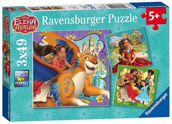 Disney Elena of Avalor 3x49 Piece Jigsaw Puzzle Game