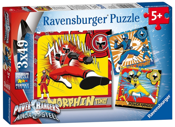 Power Rangers 'Ninja Steel' 3x49 Piece Jigsaw Puzzle Game