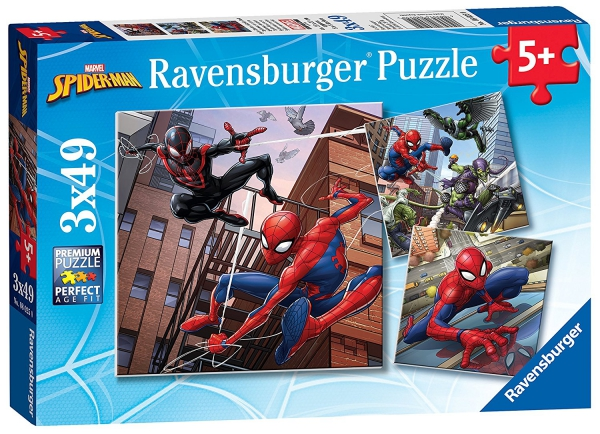 Spiderman 'Force' 3x49 Piece Jigsaw Puzzle Game