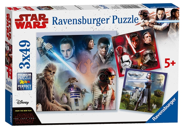 Disney Star Wars 'The Last Jedi' 3x49 Piece Jigsaw Puzzle Game