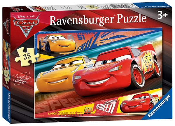 Disney Pixar Cars 3 35 Piece Jigsaw Puzzle Game