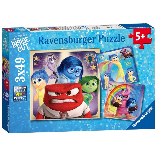 Disney Inside Out 3x49 Piece Jigsaw Puzzle Game