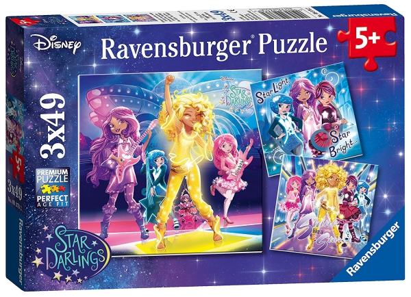 Disney Star Darlings 3x49 Piece Jigsaw Puzzle Game