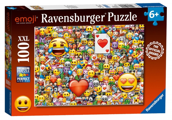 Emoji 'Emoticons' XXL 100 Piece Jigsaw Puzzle Game