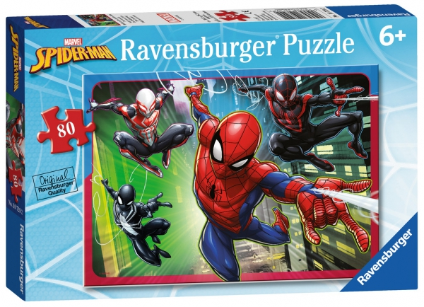 Spiderman 'Force' 80 Piece Jigsaw Puzzle Game