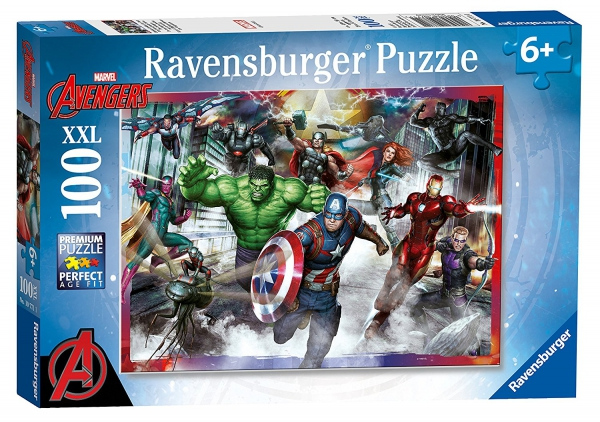 Avengers Assemble 'Force' XXL 100 Piece Jigsaw Puzzle Game
