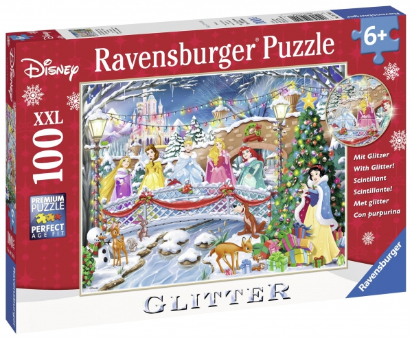 Disney Princess 'Glitter Christmas' XXL 100 Piece Jigsaw Puzzle Game