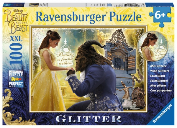 Disney Beauty and The Beast 'XXL' Glitter 100 Piece Jigsaw Puzzle Game