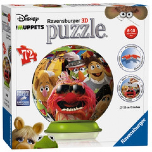 Disney The Muppets 3d (72 Pieces) Ball Jigsaw Puzzle Game