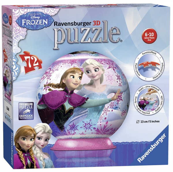 Disney Frozen 'Sisters Forever' 72 Piece Ball Jigsaw Puzzle Game