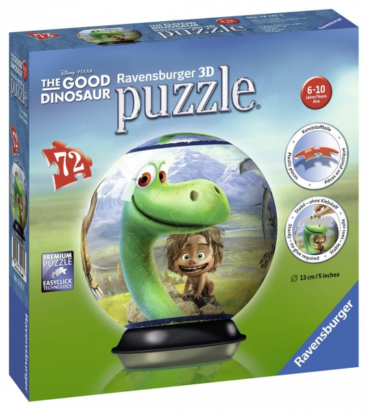 Disney The Good Dinosaur 72 Piece '5 inch 3d' Ball Jigsaw Puzzle Game
