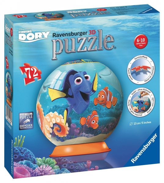 Disney Finding Dory '72 Piece 3d' Ball Jigsaw Puzzle Game