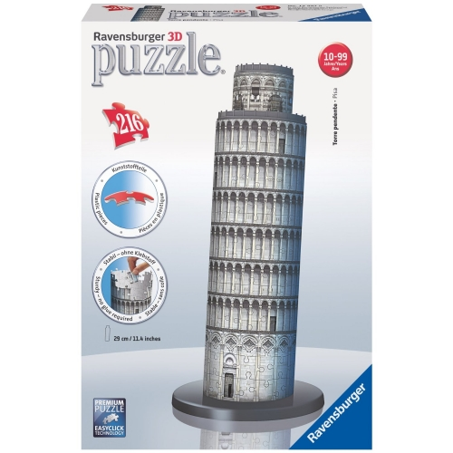 Leaning Tower of Pisa 216 Piece 3d Jigsaw Puzzle Game