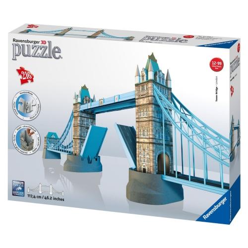 London Tower Bridge Building 3d 216 Pieces Jigsaw Puzzle Game