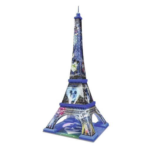 Disney Mickey and Minnie Eiffel Tower 3d 216 Piece Jigsaw Puzzle Game
