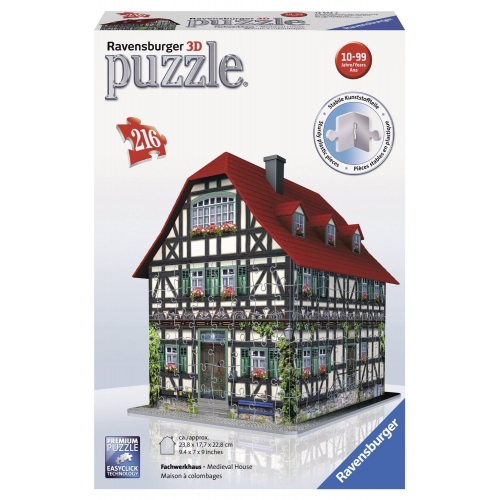 Medieval House 216 Pc 3d Jigsaw Puzzle Game